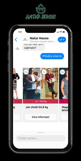 Naturhouse chatbot vyzivove poradenstvi